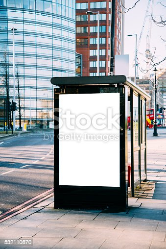 istock Bus stop with billboard 532110870