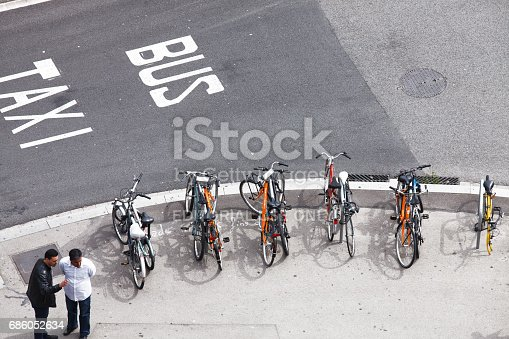 istock Bus, taxi or bicycle 686052634