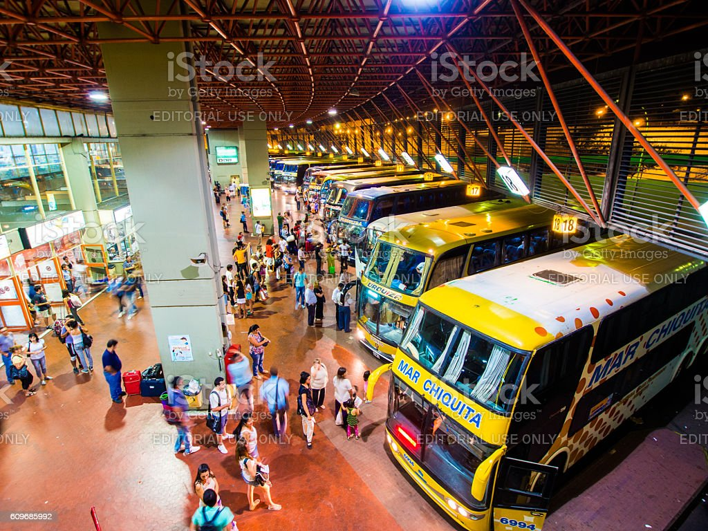 Bus Terminal in Cordoba, Argentina stock photo