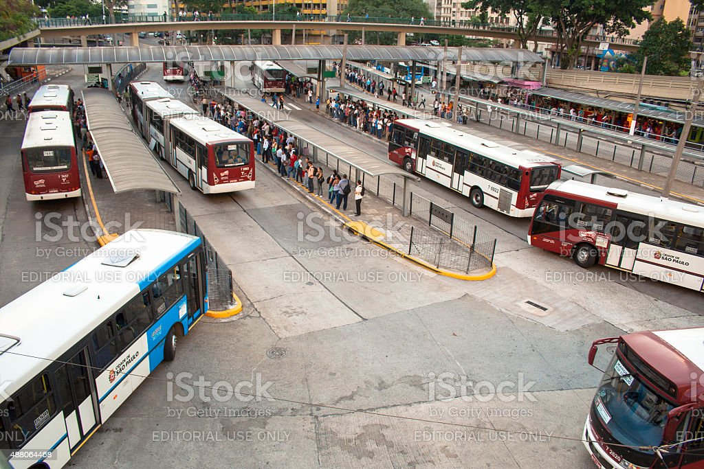 bus terminal stock photo
