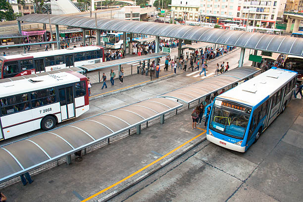 bus terminal stock photo