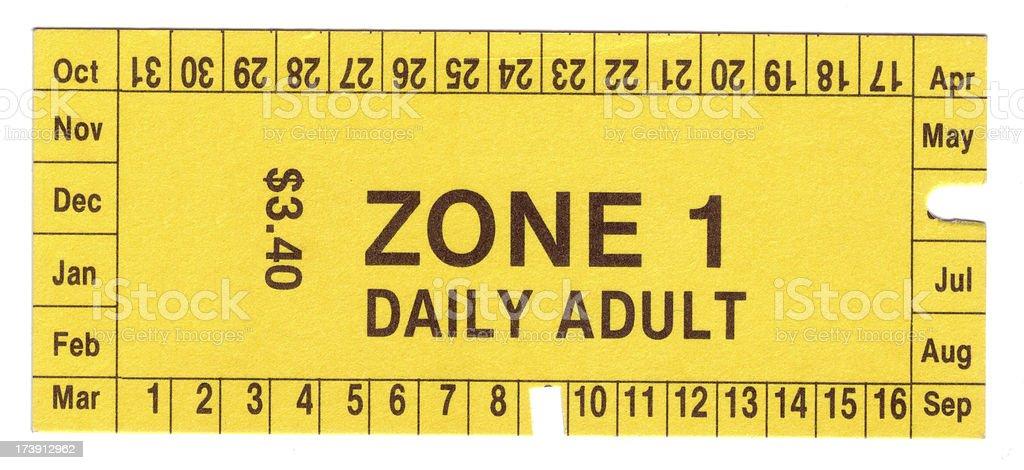 Bus ticket stock photo