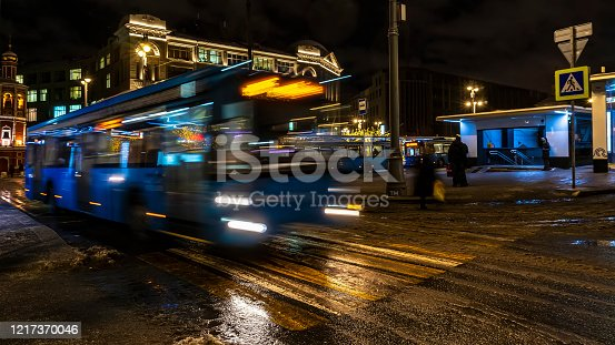 1060957508 istock photo Bus traffic at the city bus terminal 1217370046