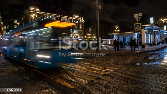 1060957508 istock photo Bus traffic at the city bus terminal 1217370051