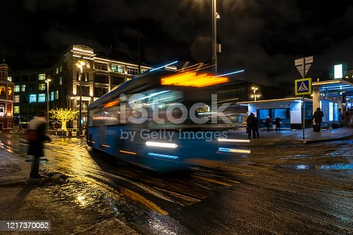 1060957508 istock photo Bus traffic at the city bus terminal 1217370052