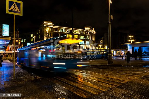1060957508 istock photo Bus traffic at the city bus terminal 1218098630
