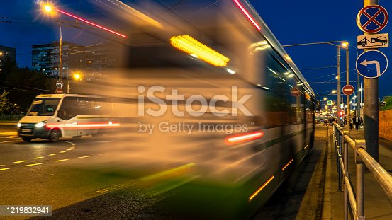 1060957508 istock photo Bus traffic at the city bus terminal 1219832941