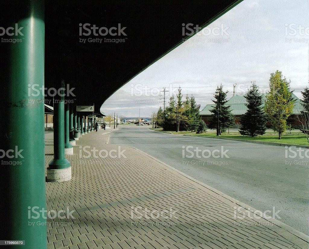 Bus Transit Terminal royalty-free stock photo