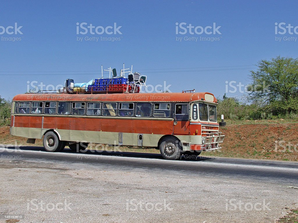 Bus transport, African style stock photo