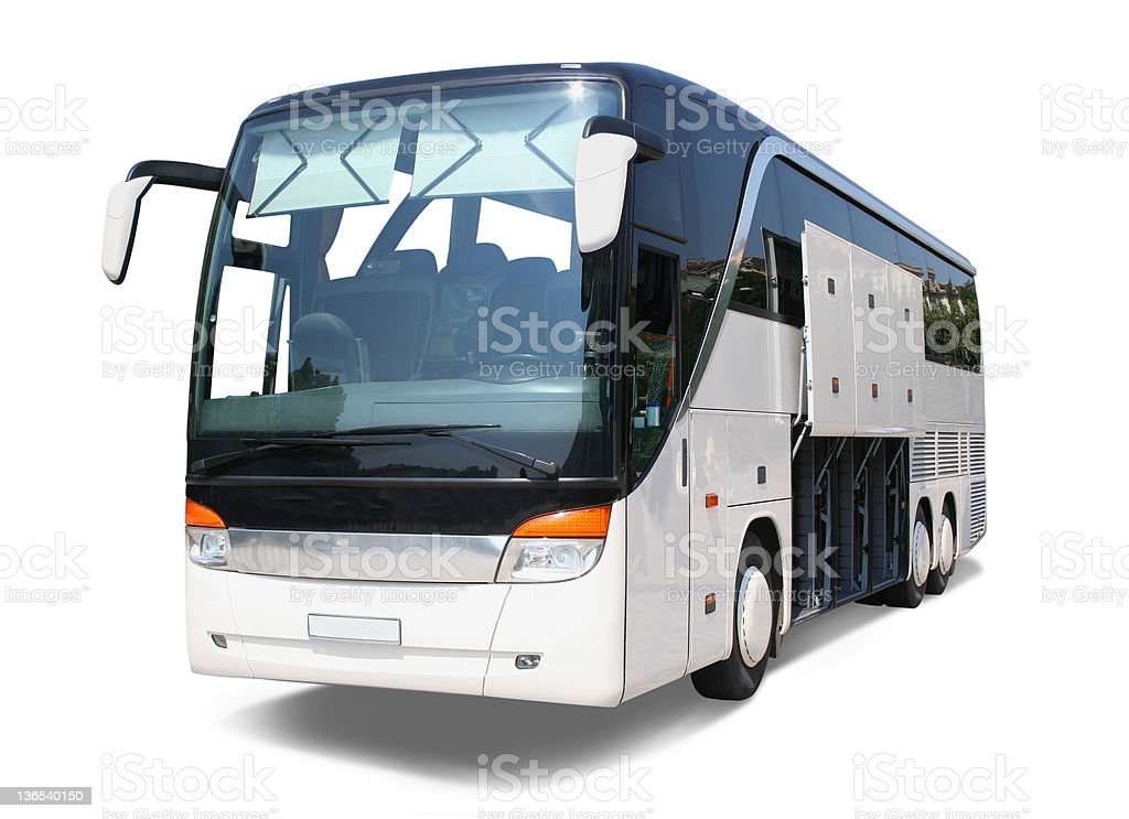 Bus with open rack royalty-free stock photo