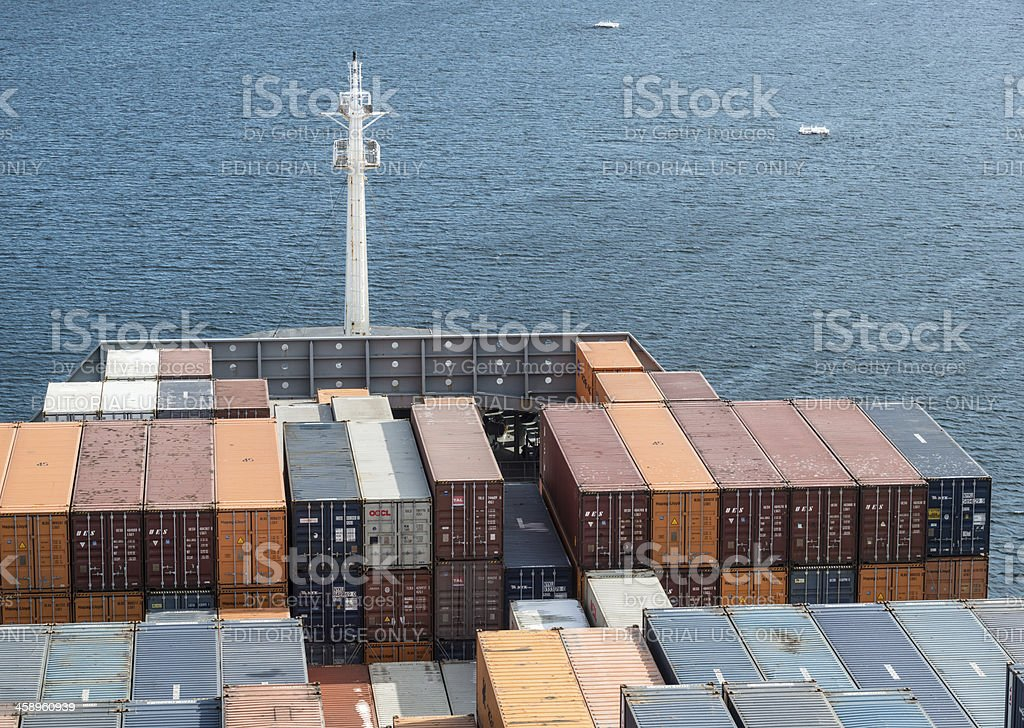 Busan Express Container Ship royalty-free stock photo
