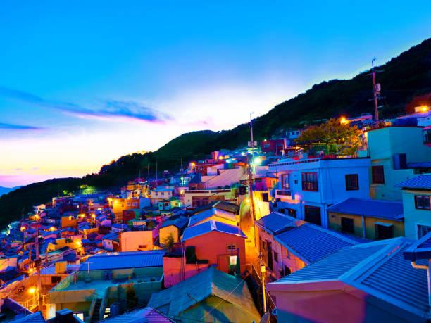 釜山甘川文化村 - 釜山 ストックフォトと画像