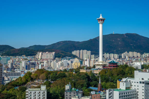 釜山タワー - 釜山 ストックフォトと画像
