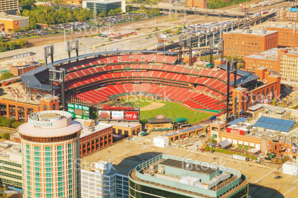 Busch baseball stadium in St Louis, MO stock photo