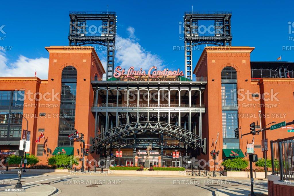 Busch Stadium In St. Louis, Missouri stock photo
