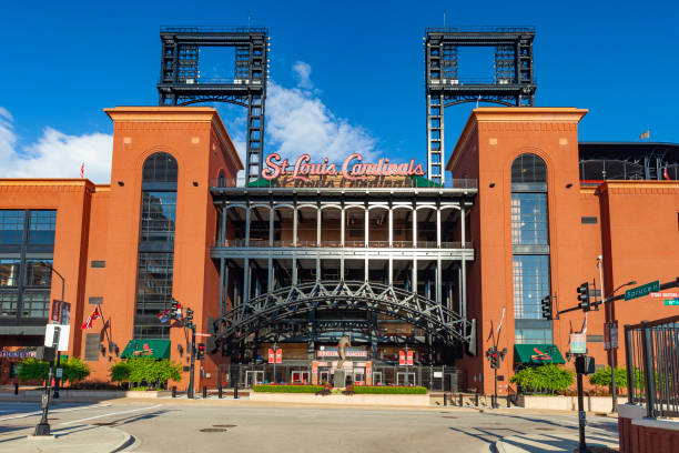 Busch Stadium In St. Louis, Missouri stock photo