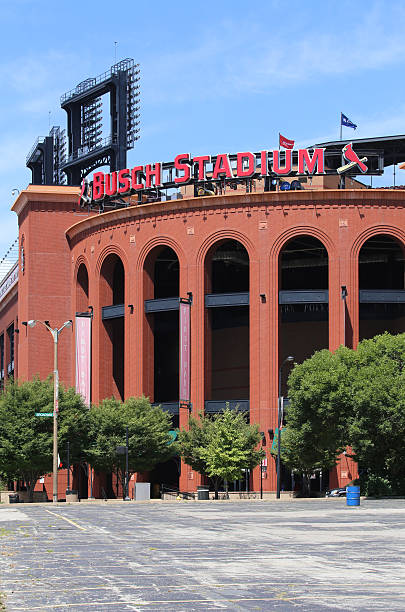 Busch Stadium St. Louis, MO, USA - August 21, 2015: Busch Stadium in St. Louis, Missouri. Busch Stadium is a ballpark and the home field of Major League Baseball's St. Louis Cardinals. major league baseball stock pictures, royalty-free photos & images