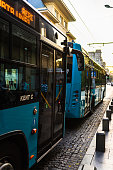 istock Buses waiting in the bus station in Bucharest, Romania, 2019 1182101248