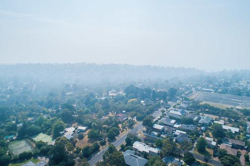 Bush fire smoke covers suburbs in Melbourne, Australia