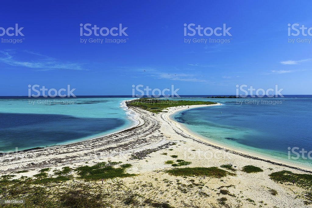 Bush Key in the Dry Tortugas National Park stock photo