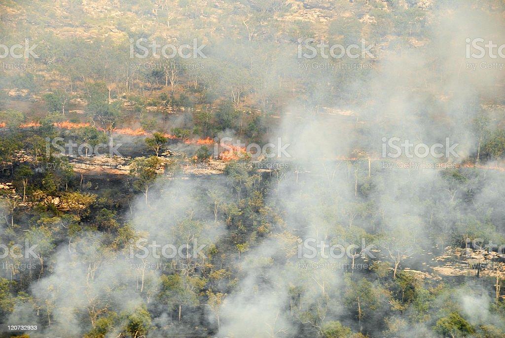 Bushfire royalty-free stock photo