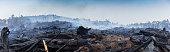 istock Bushfire smouldering in Australian Outback 1207193314