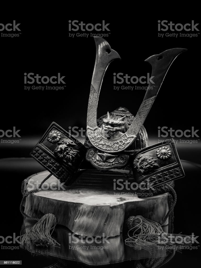 Bushido Hat, Iron Helmet stock photo