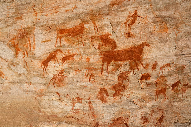Bushman cave painting  archaeology stock pictures, royalty-free photos & images