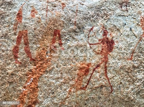 istock Bushman cave paintings in the Cederberg mountains,south Africa 861880232