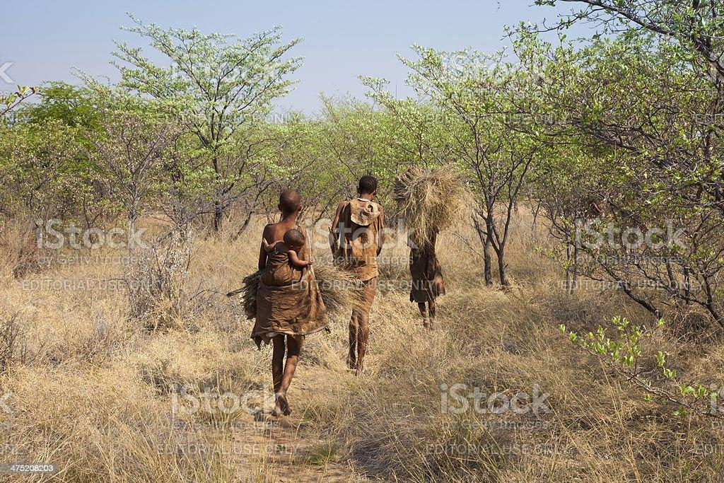 Bushmen of Botswana stock photo