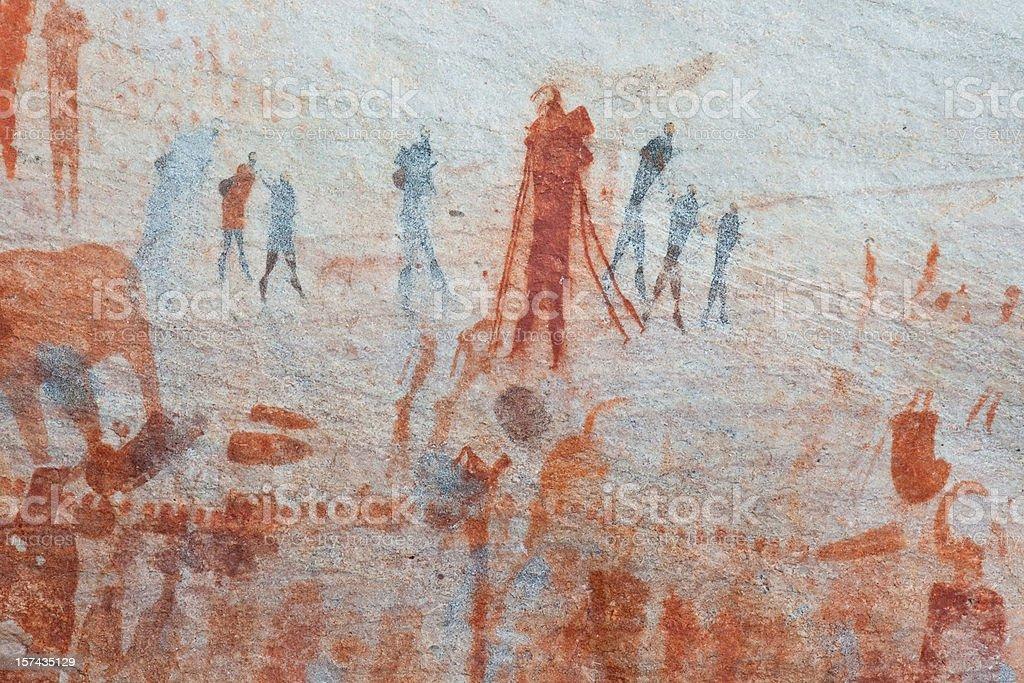 Bushmen rock art royalty-free stock photo