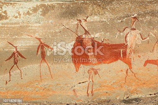 istock Bushmen rock painting 1071826184