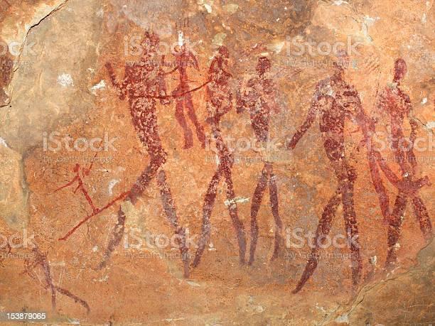 Bushmen Rock Painting Stock Photo - Download Image Now