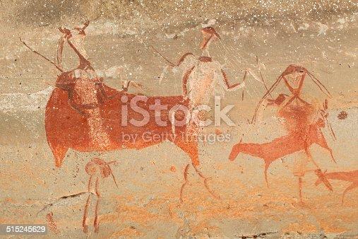 istock Bushmen rock painting 515245629