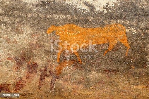 istock Bushmen rock painting 535813759