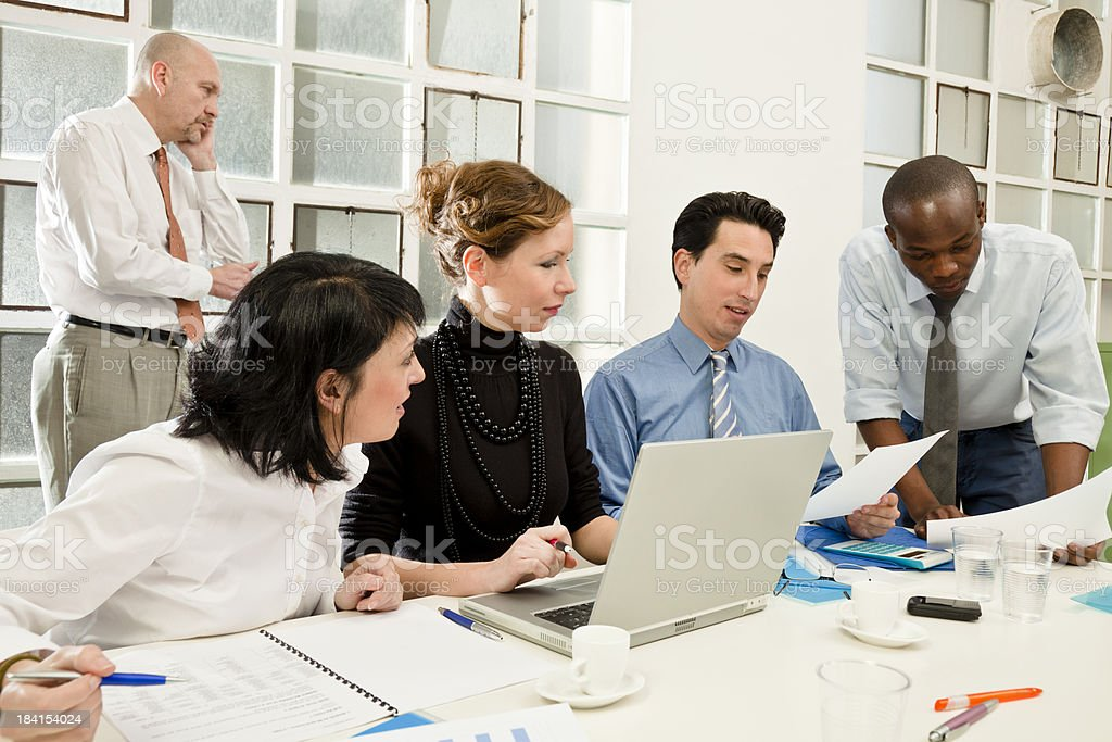 Businees team at a work meeting royalty-free stock photo