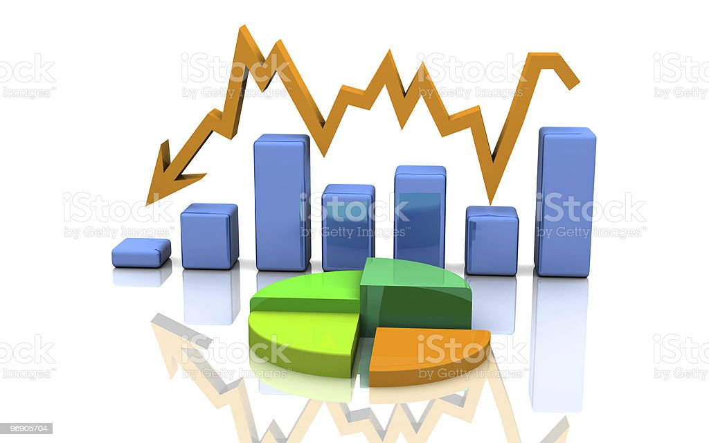 busines graph, chart, diagram royalty-free stock photo