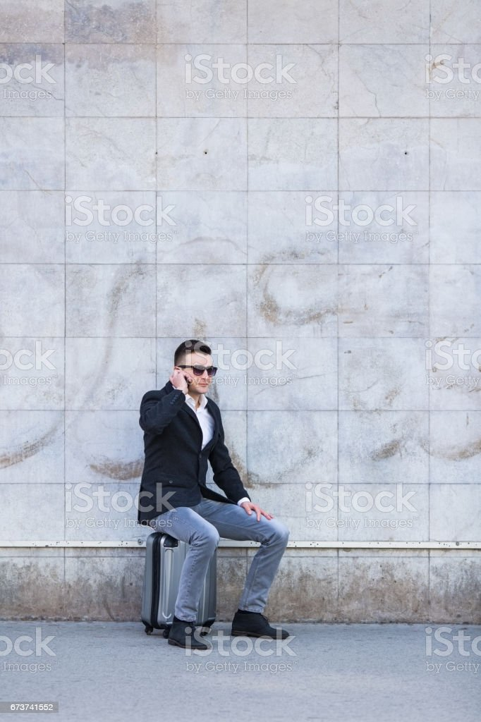 Busines man outdoors royalty-free stock photo