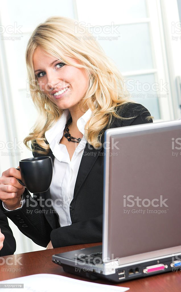 Busines people in office drinking coffee royalty-free stock photo