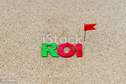 istock Business Abbreviation ROI as Return On Investment 621238284