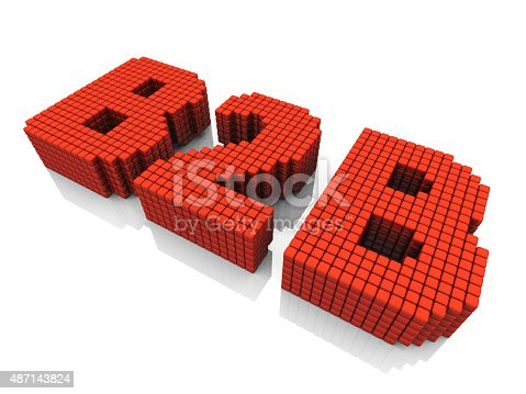 istock B2B business abbreviation with pixel effect on white background 487143824