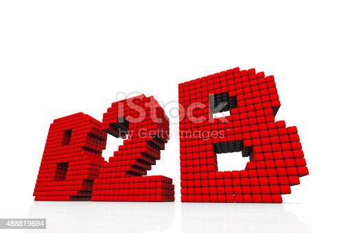 istock B2B business abbreviation with pixel effect on white background 488819694