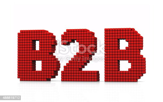 istock B2B business abbreviation with pixel effect on white background 488819712