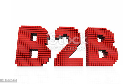istock B2B business abbreviation with pixel effect on white background 491540822