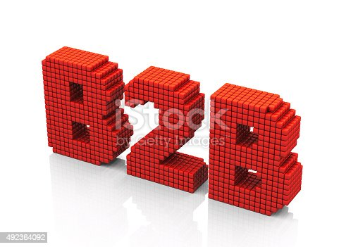 istock B2B business abbreviation with pixel effect on white background 492364092