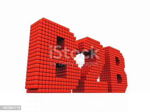 istock B2B business abbreviation with pixel effect on white background 492364118