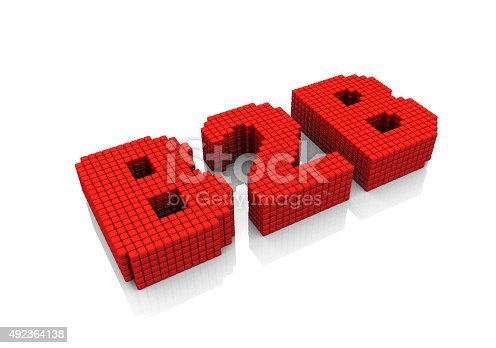 istock B2B business abbreviation with pixel effect on white background 492364138