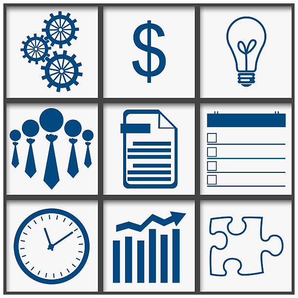 Business Abstract Grid stock photo