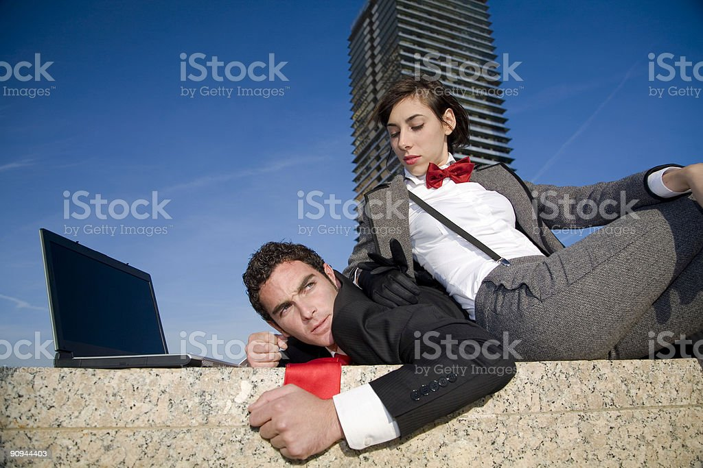 Business abuse royalty-free stock photo