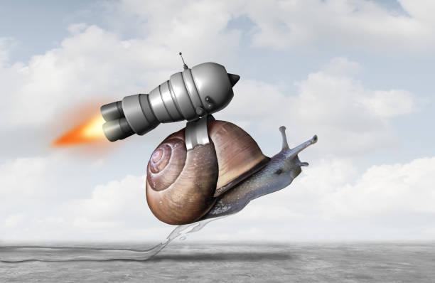 business acceleration concept - langzaam stockfoto's en -beelden